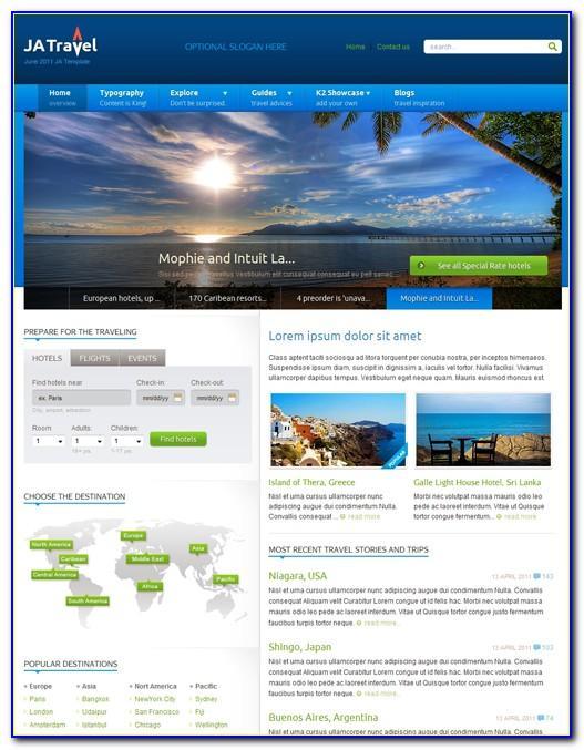 Joomla Travel Agency Template Free