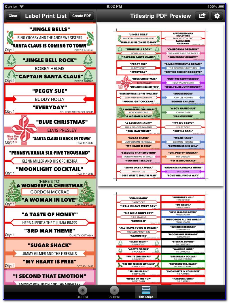 Jukebox Template Title Strips Free