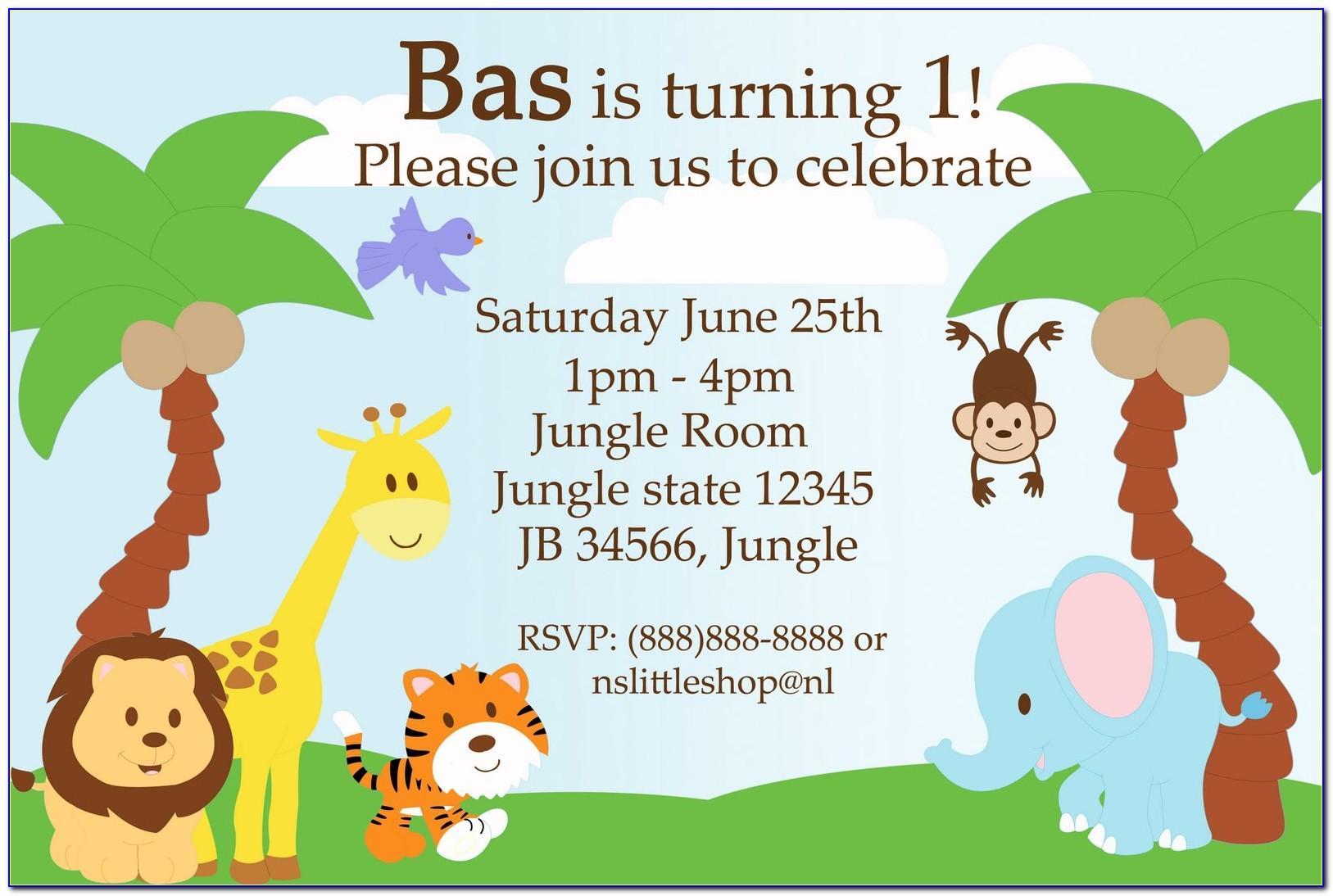 Jungle Themed Invitation Template Free