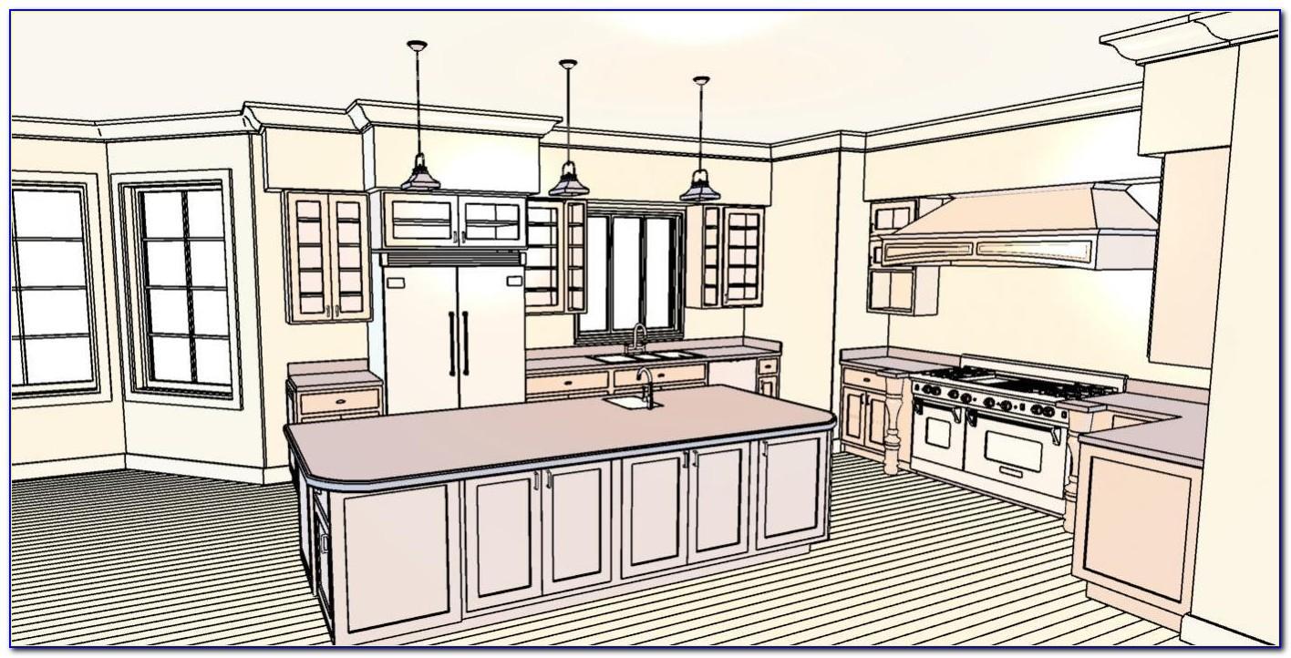 Kitchen Cabinet Floor Plan Design