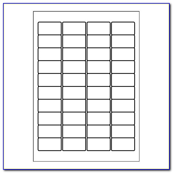 Label Template 40 Per Sheet