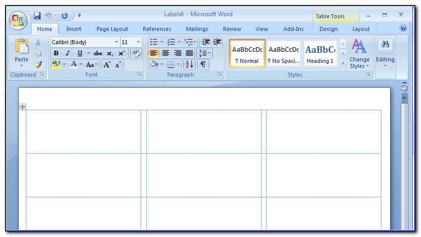 Label Template Microsoft Word