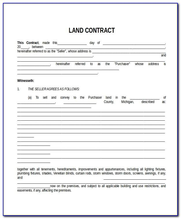 Land Contract Purchase Agreement Ohio