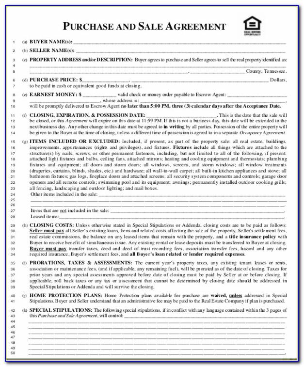 Land Contract Template Free