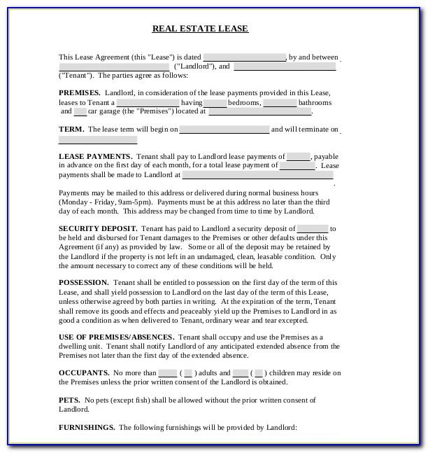 Land Lease Agreement Template Pdf