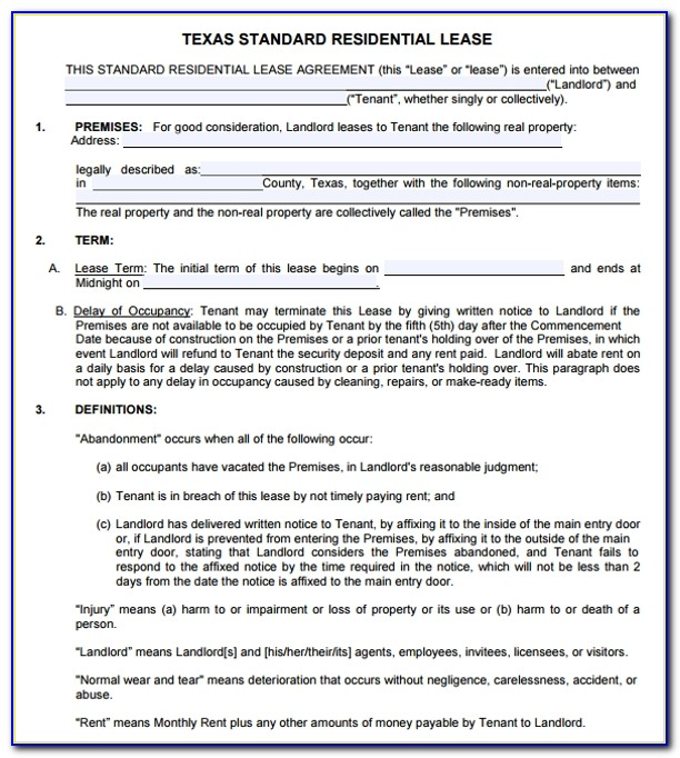Land Lease Agreement Texas Template
