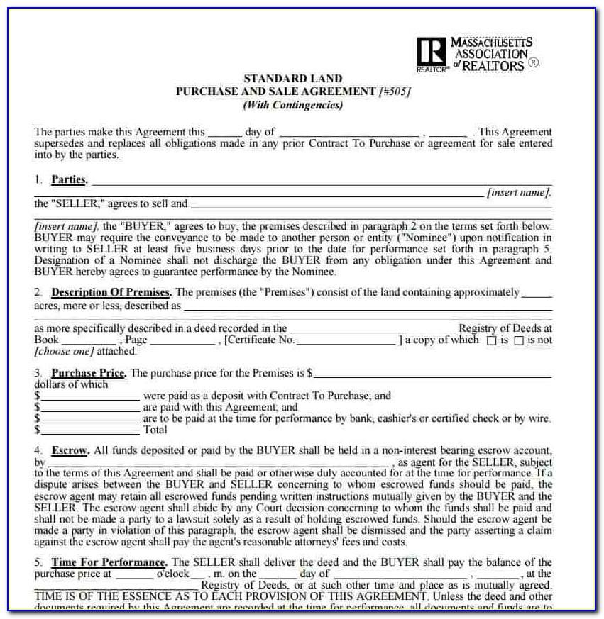 Land Purchase Contract Template