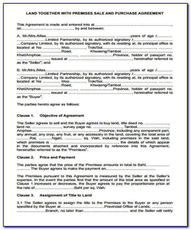 Land Real Estate Contract Form