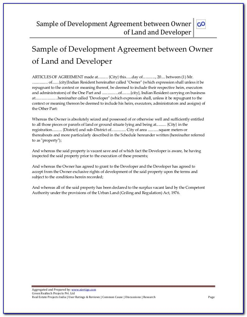 Land Sale Agreement Form Download