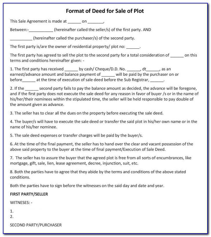 Land Sale Agreement Form Kenya Pdf