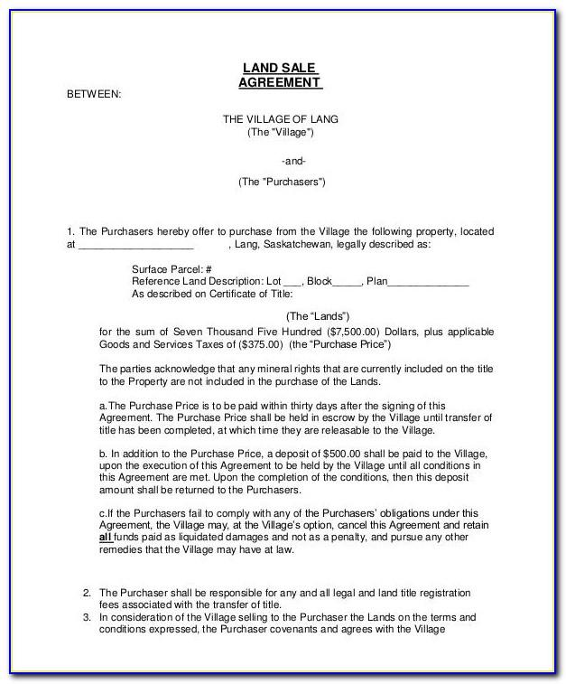 Land Sale Agreement Format In Malayalam