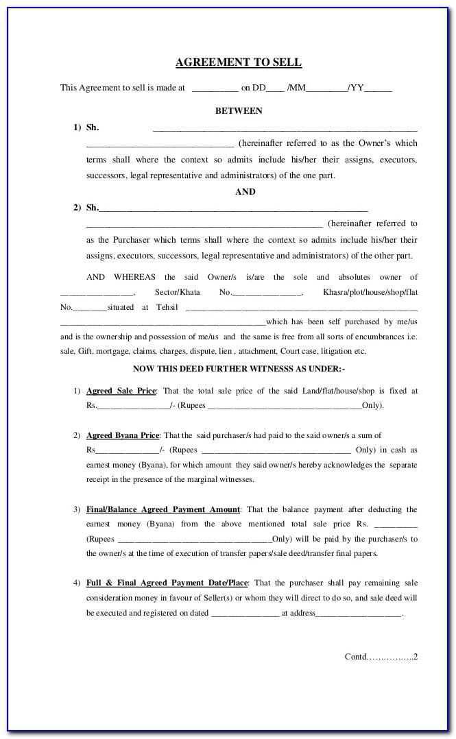 Land Sale Agreement Sample In Nigeria Pdf