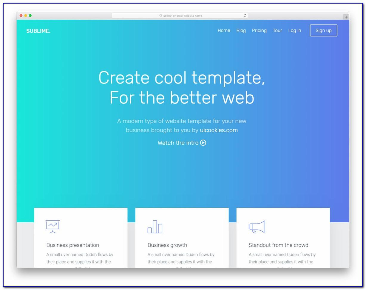Landing Page Bootstrap Template Free