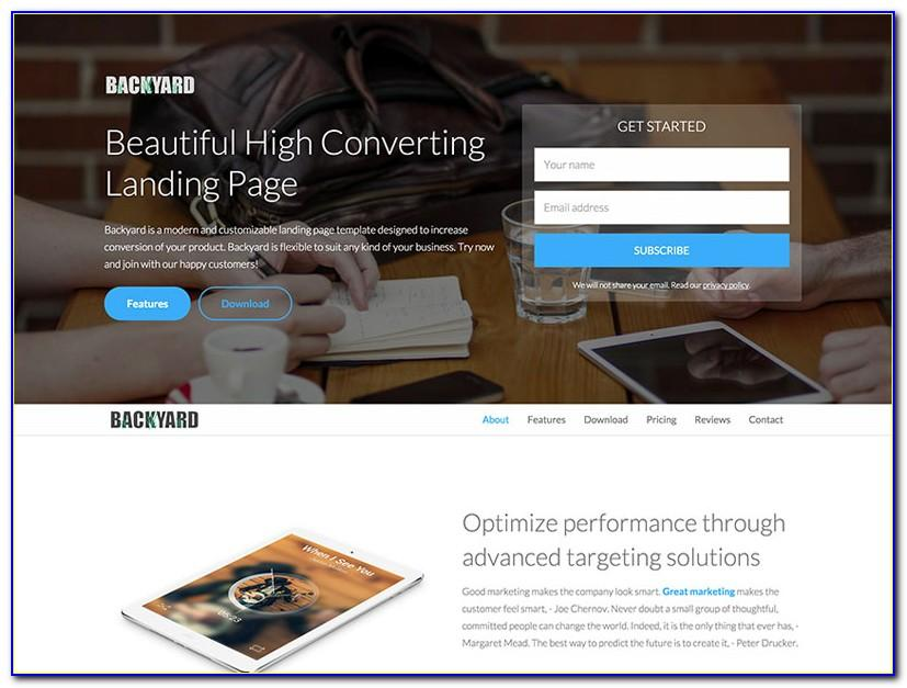 Landing Page Template Bootstrap 4