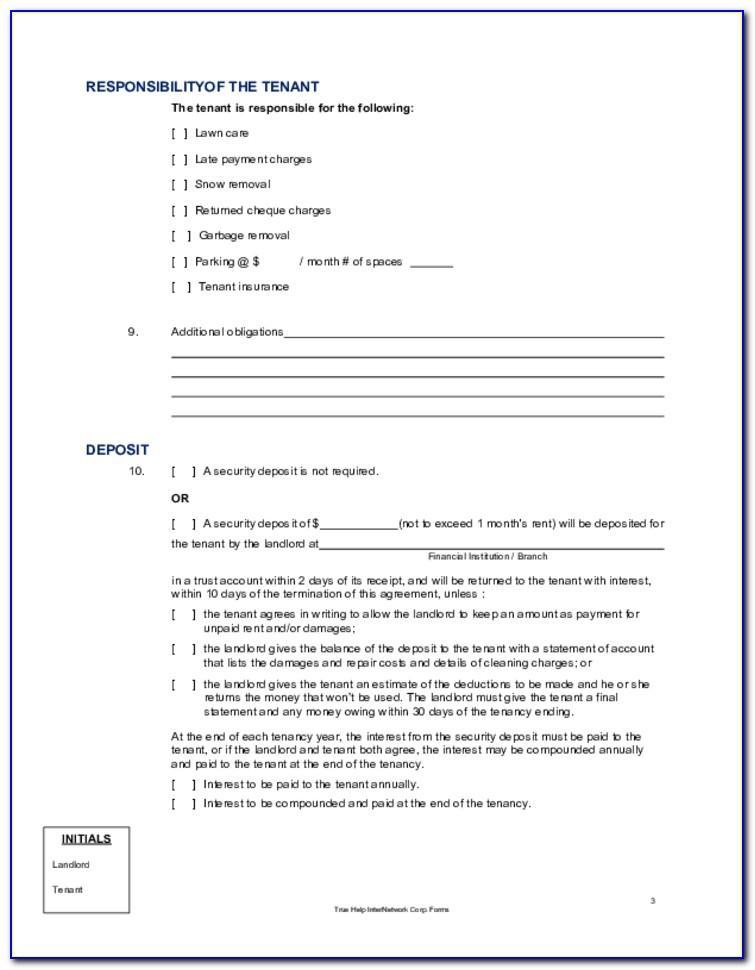 Landlord Lease Agreement Ontario