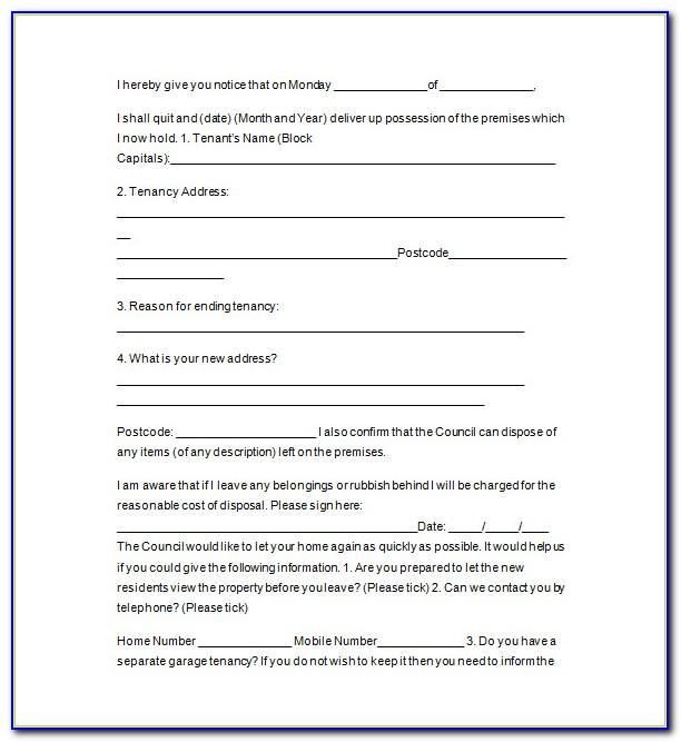 Landlord Month To Month Lease Termination Letter Template