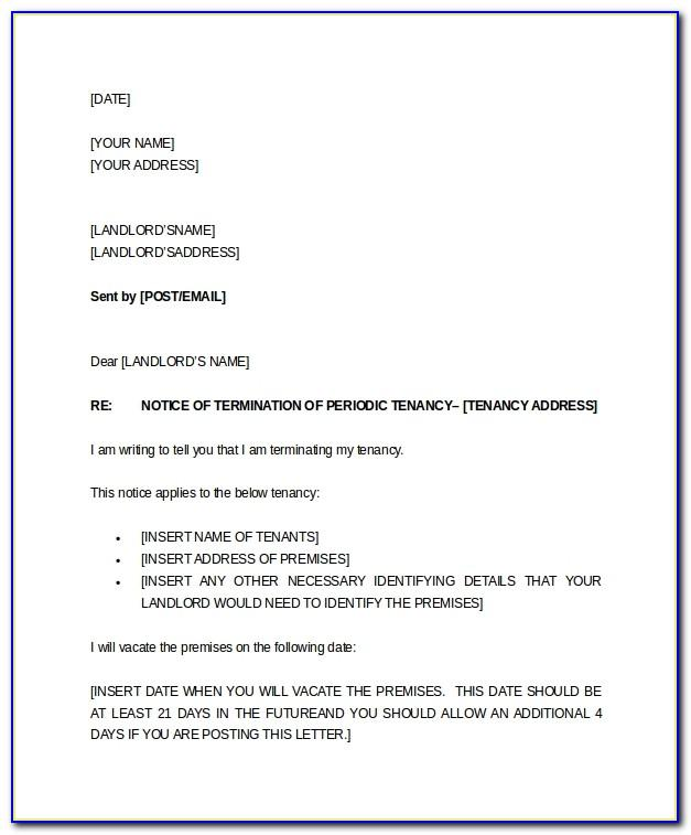 Landlord Tenancy Termination Letter Template Uk