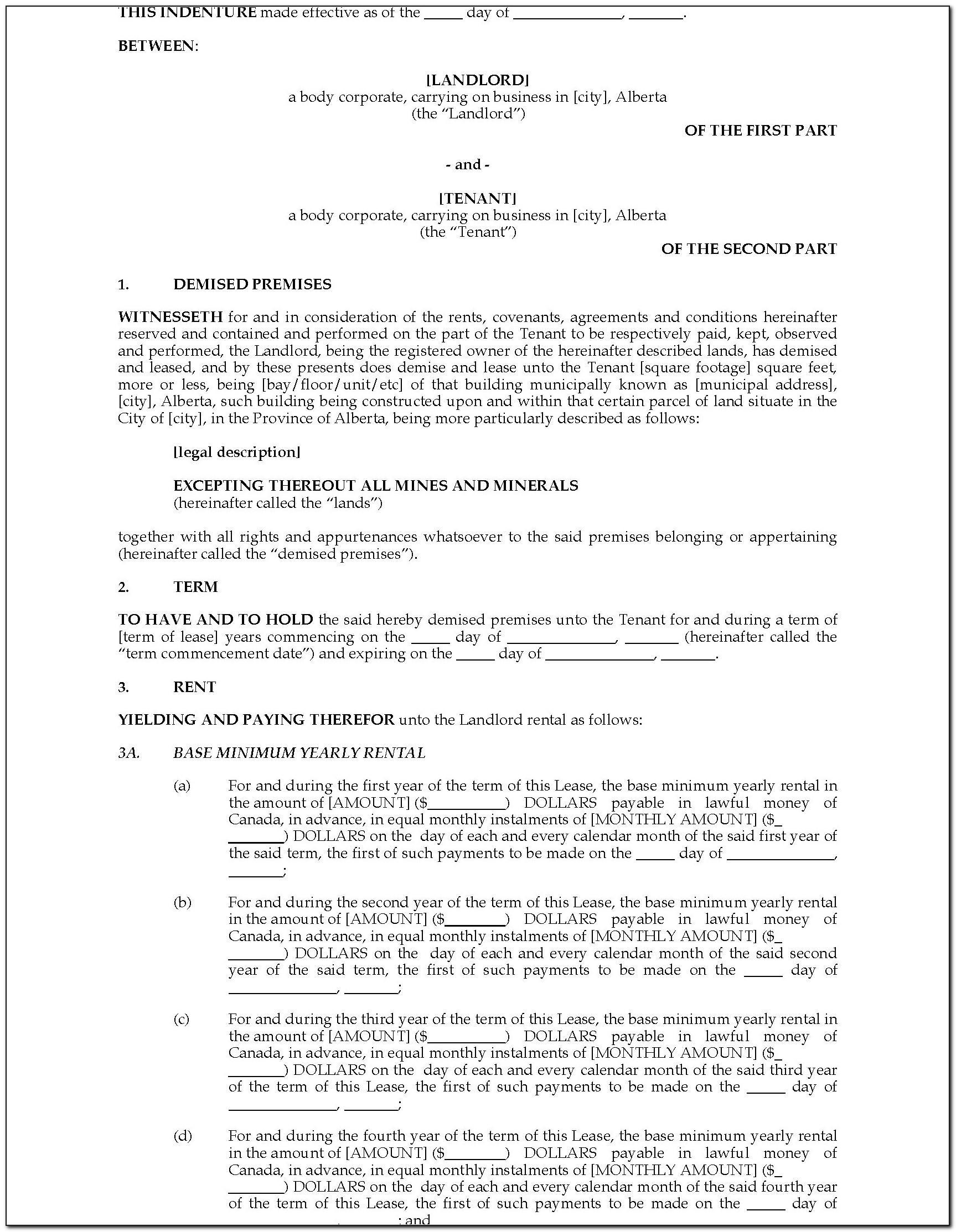 Landlord Tenant Act Alberta Lease Agreement