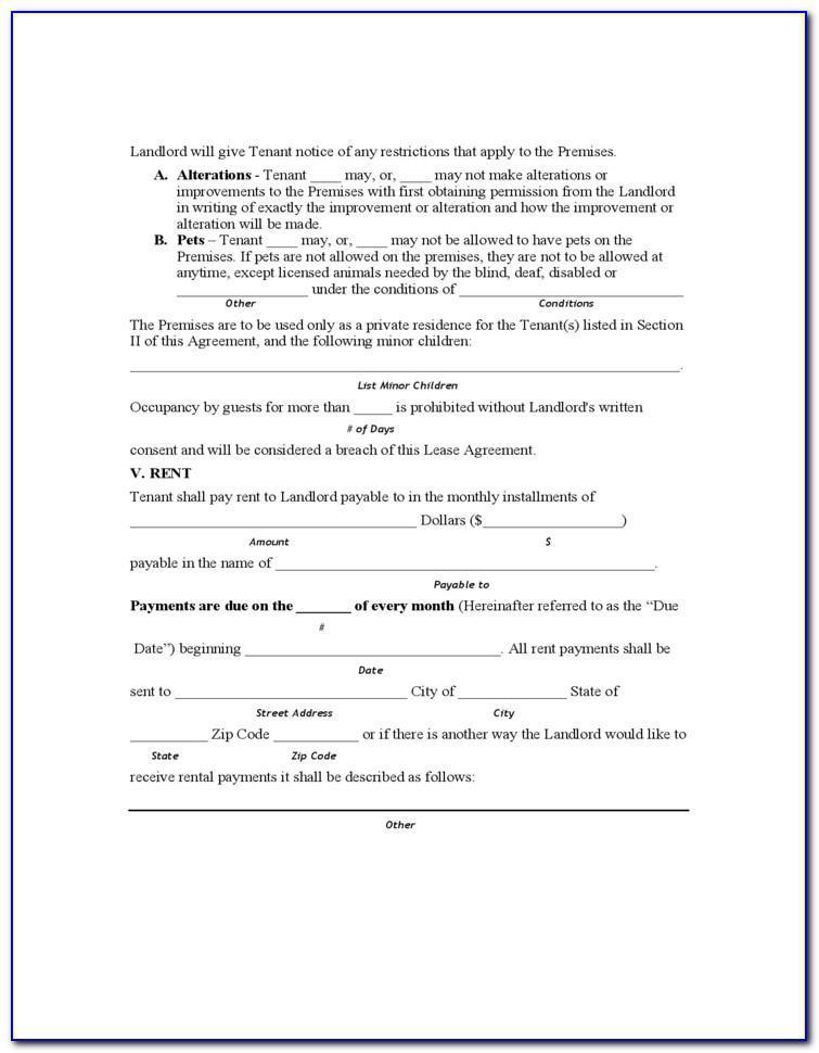 Landlord Tenant Act Rental Agreement Ontario