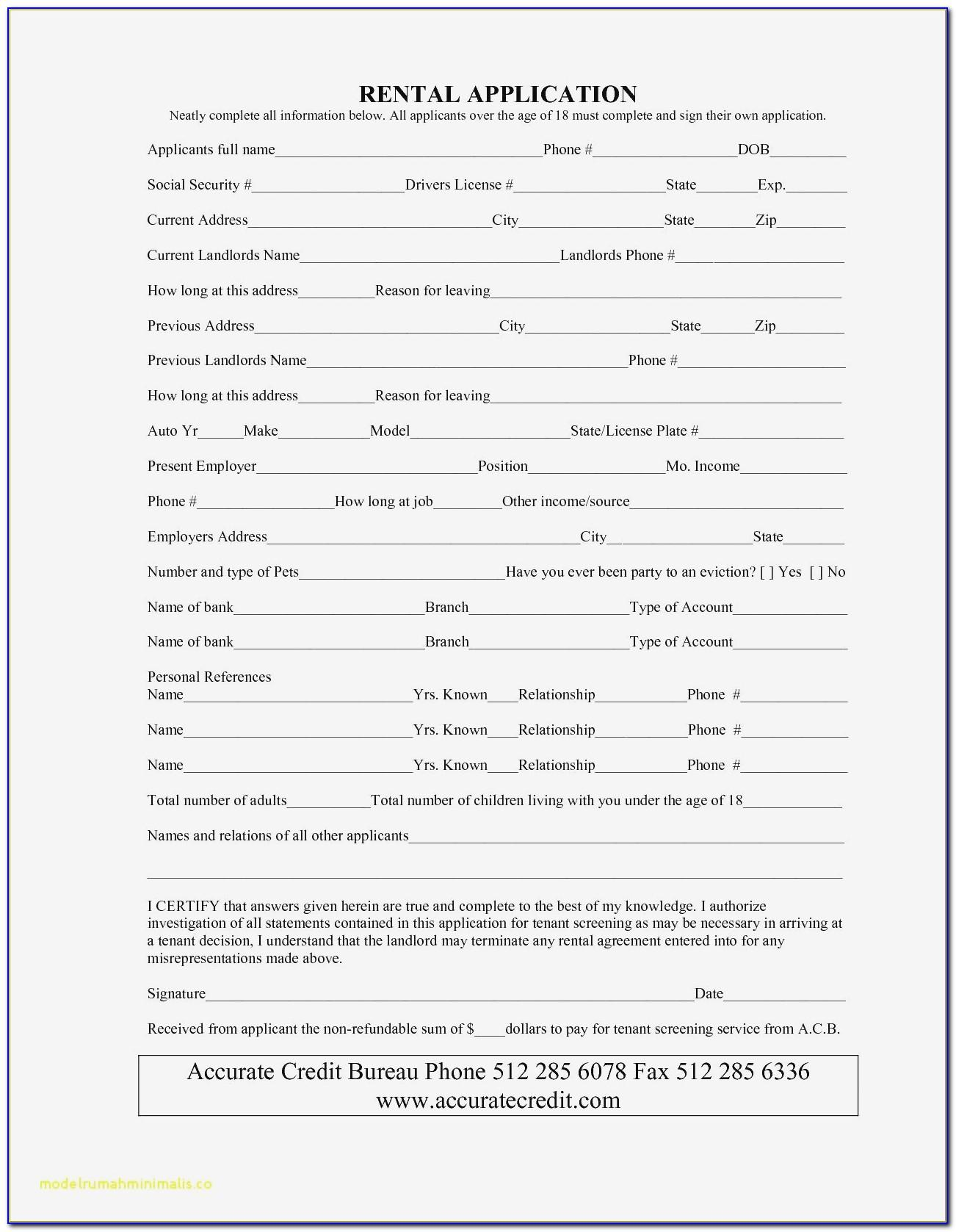 Landlord Tenant Agreement Form Bc