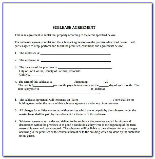 Landlord Tenant Contract Example