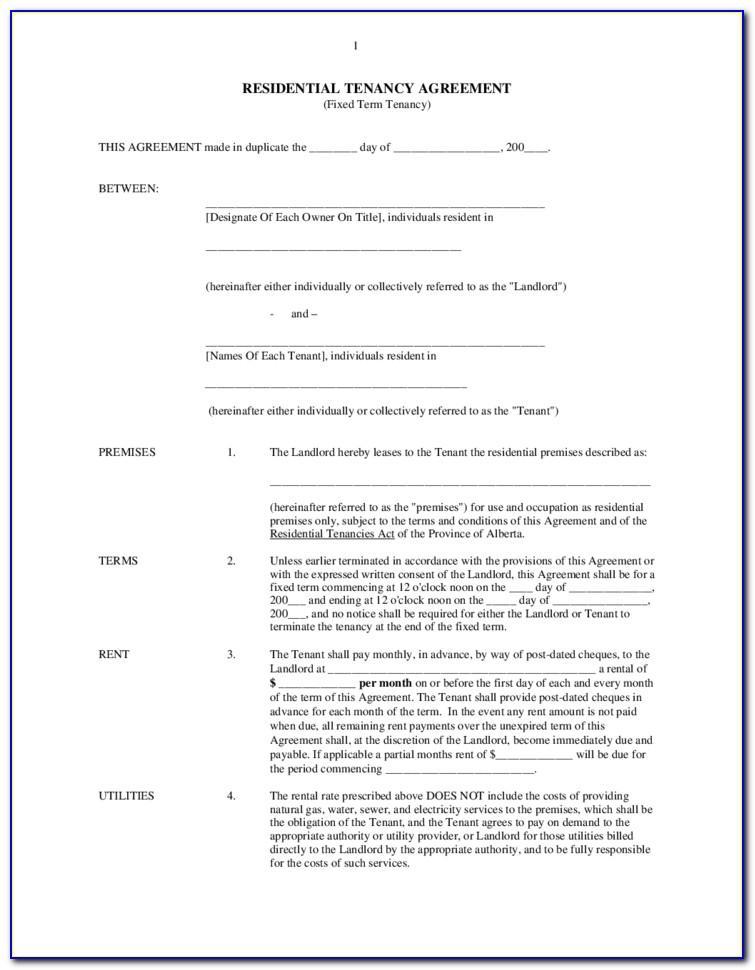 Landlord Tenant Lease Agreement Florida