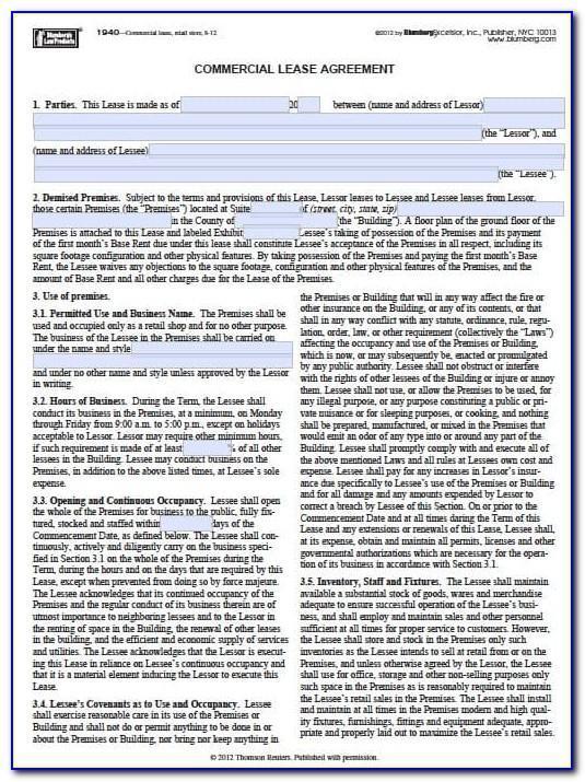 Landlord Tenant Lease Agreement New York