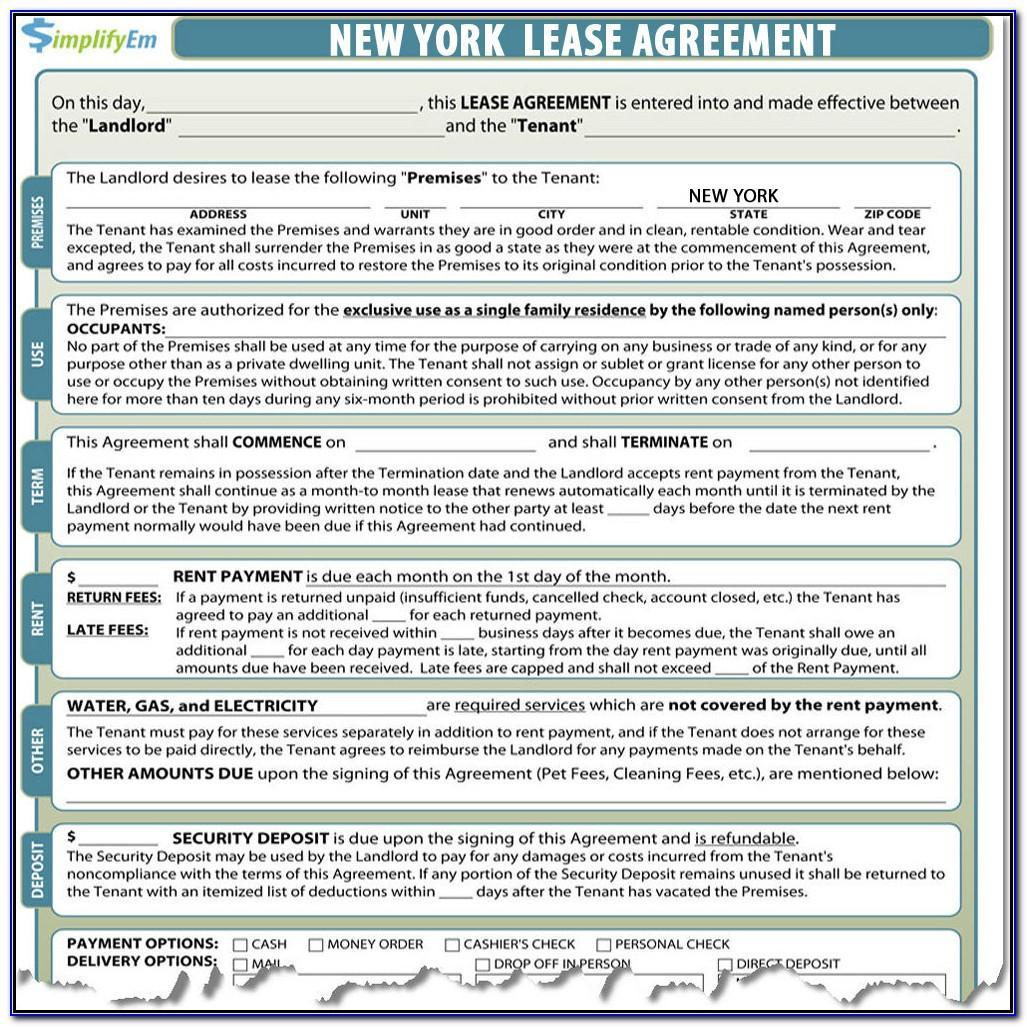 Landlord Tenant Lease Agreement Nj