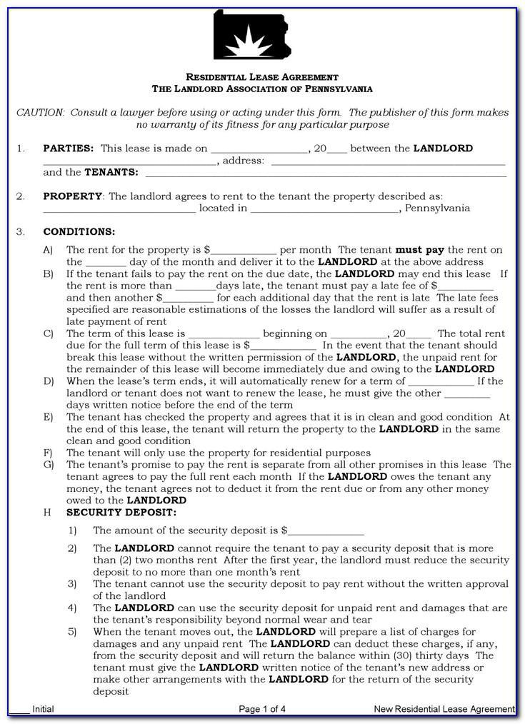 Landlord Tenant Lease Agreement Ontario Canada