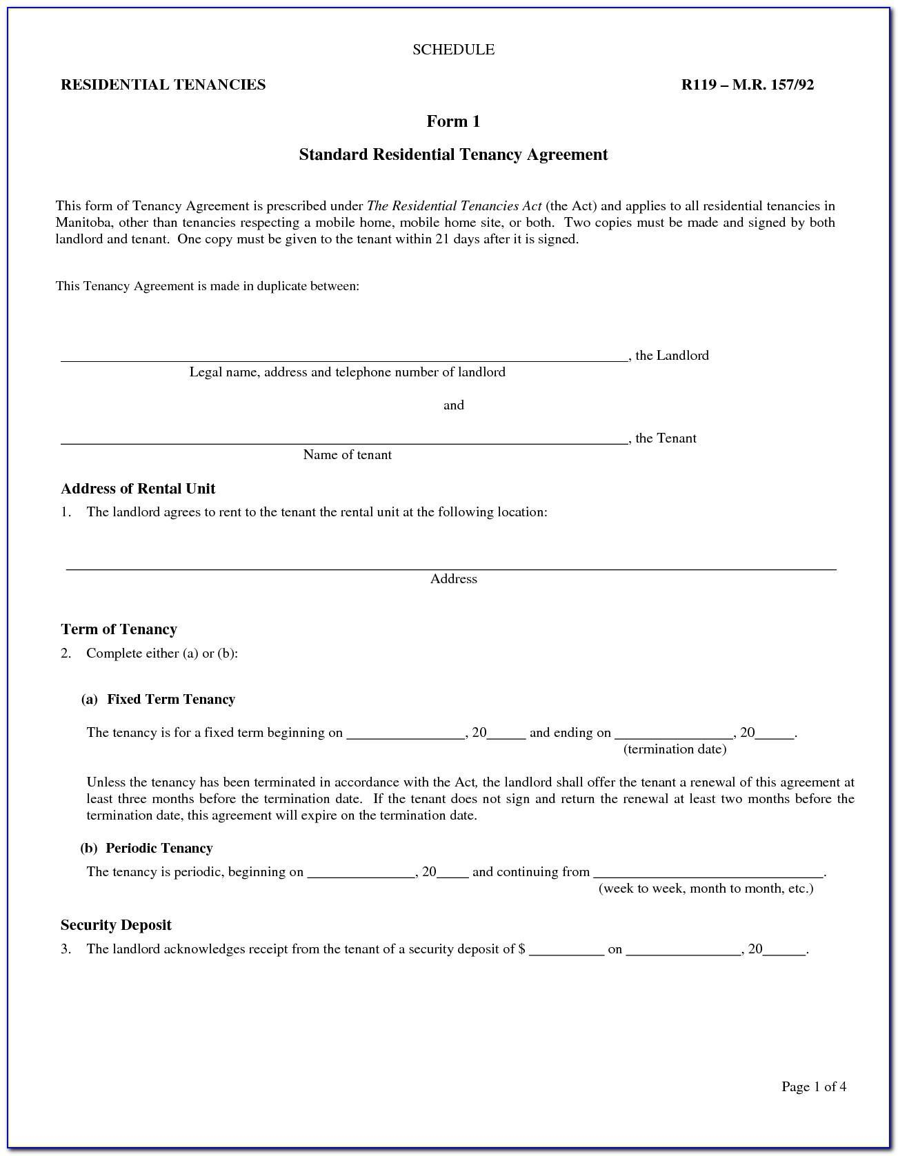 Landlord Tenant Lease Agreement Pennsylvania