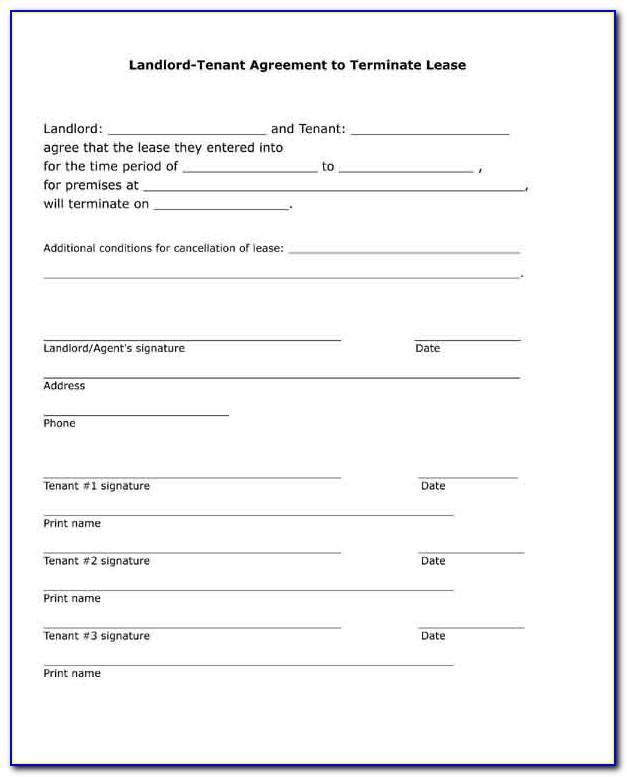 Landlord Tenant Lease Form Free