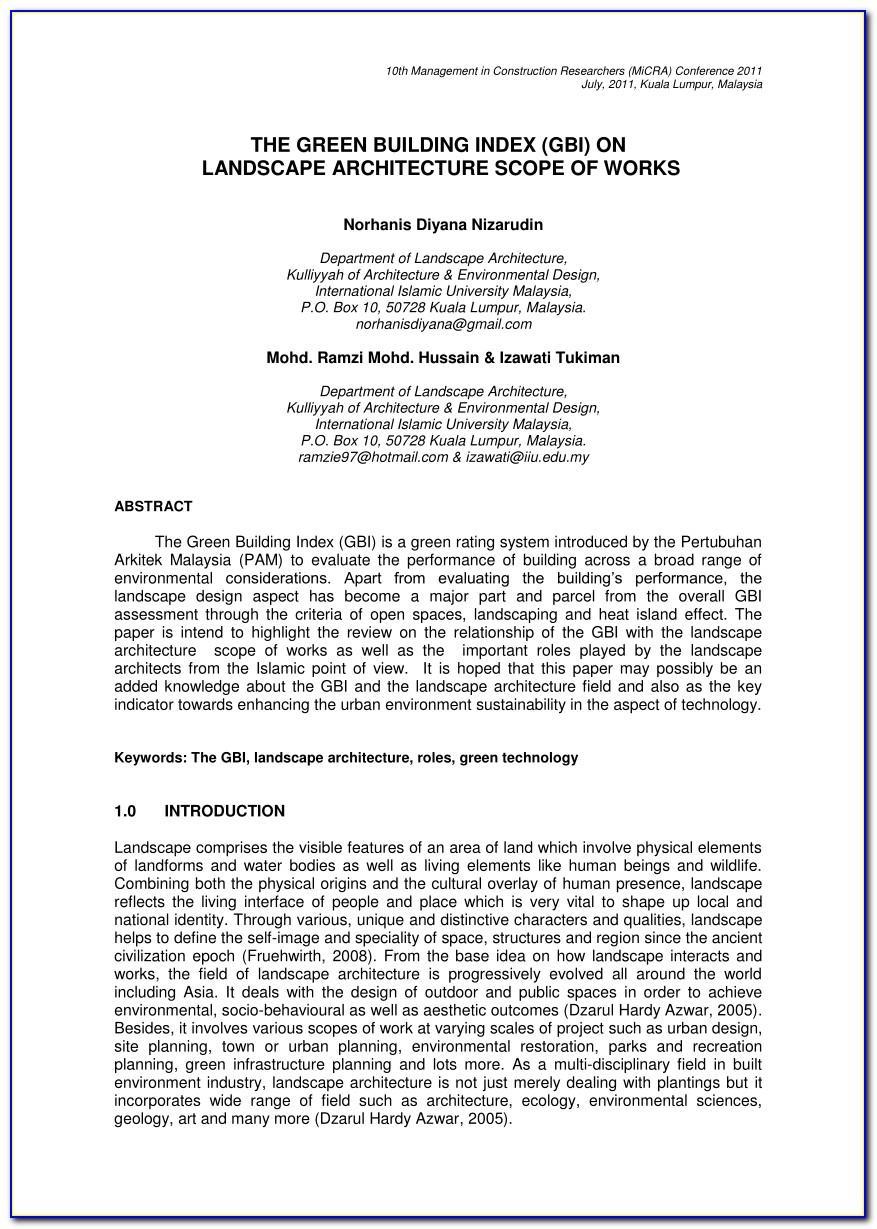 Landscape Design Proposal Sample Pdf