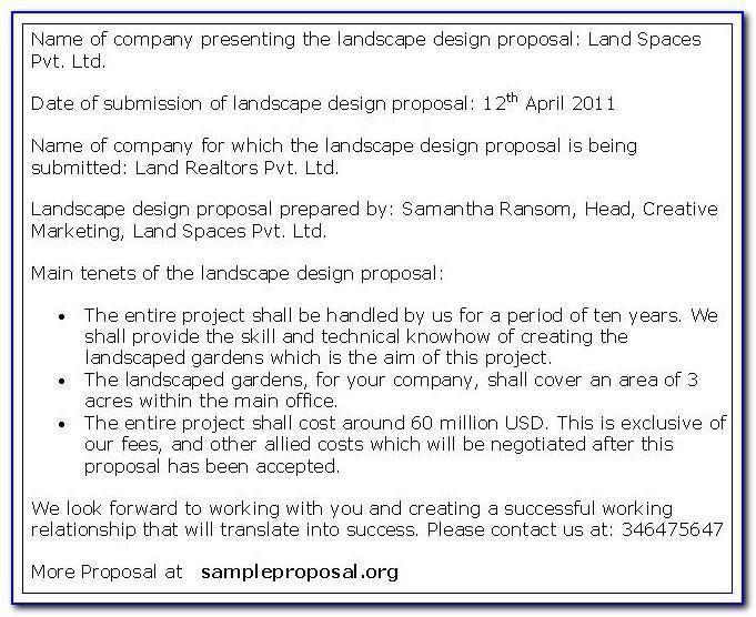 Landscape Proposal Template Excel