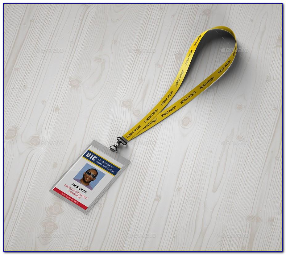 Lanyard Badge Template Psd