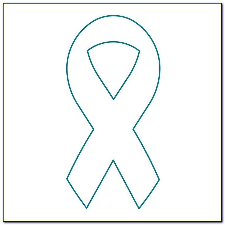 Large Cancer Ribbon Template