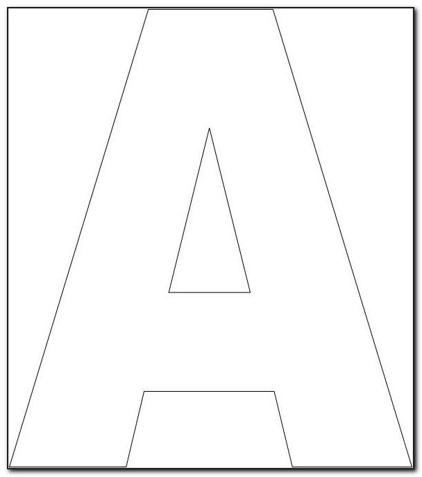 Large Letter Stencils Printable