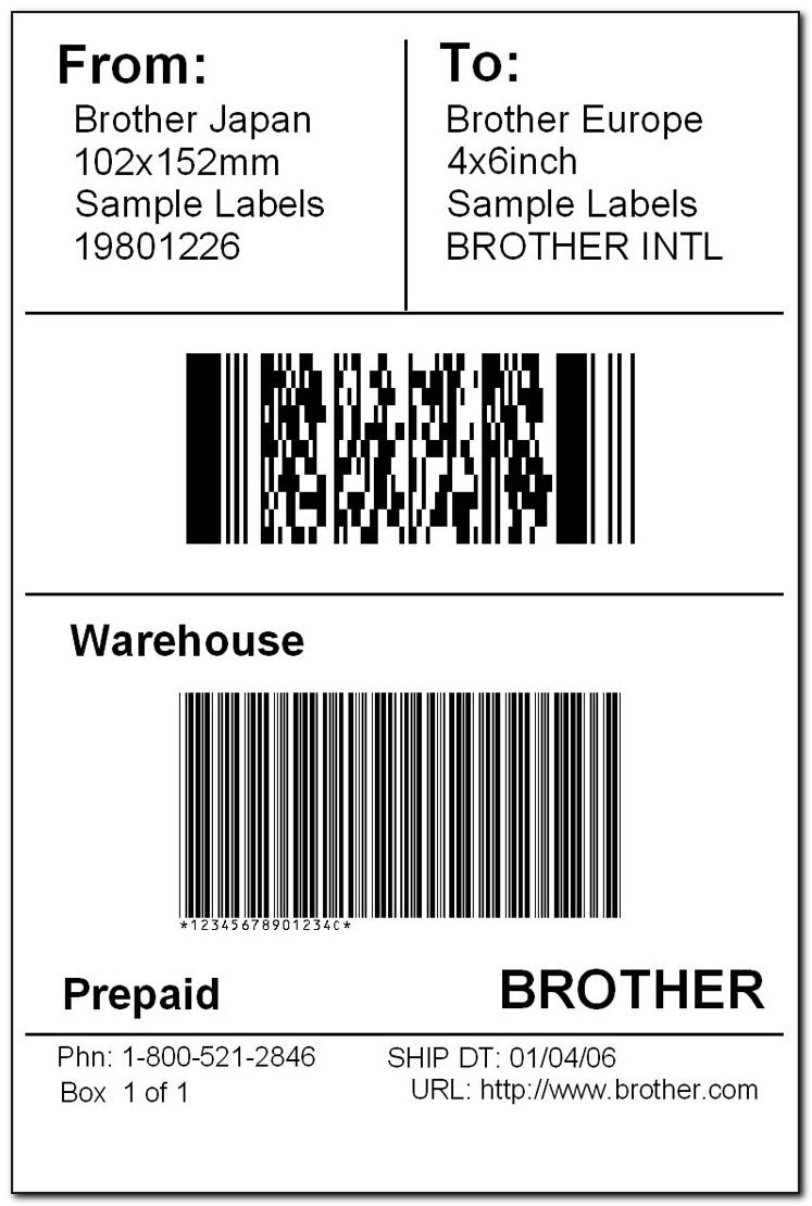 Large Shipping Label Template Word