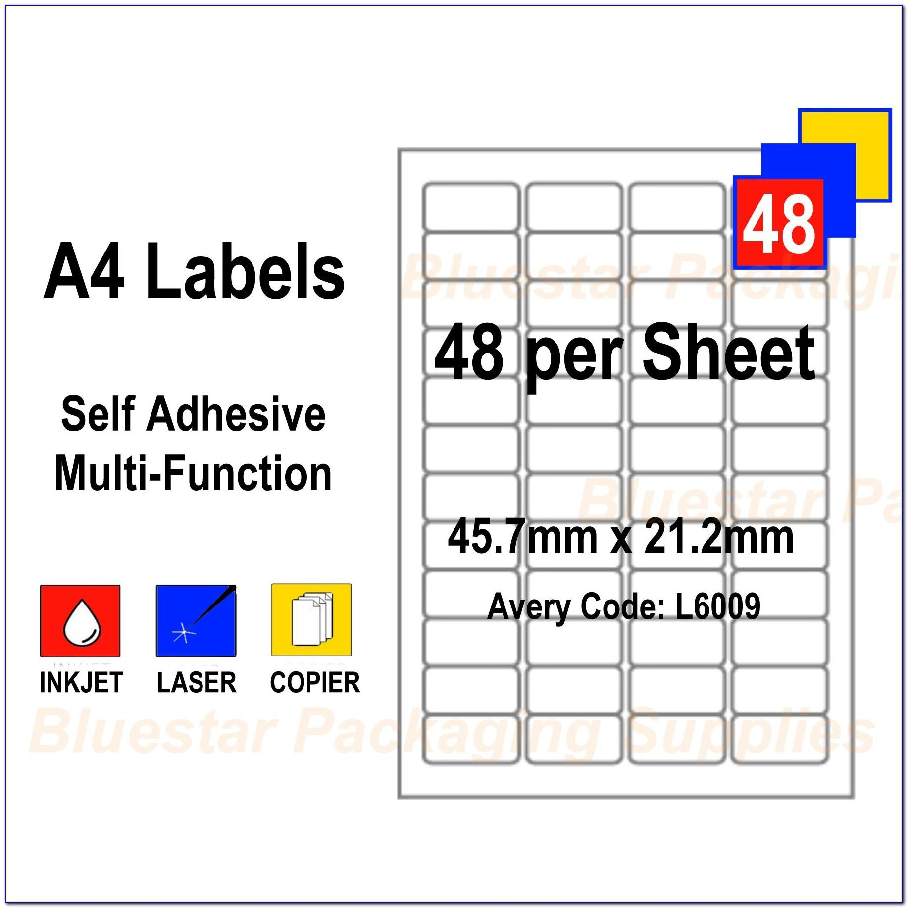 Laser Labels Template 21 Per Sheet