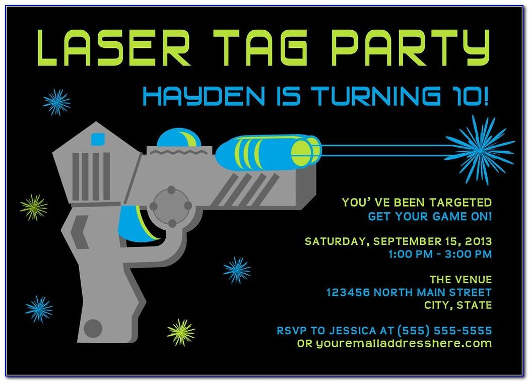 Laser Tag Birthday Invitation Template Free