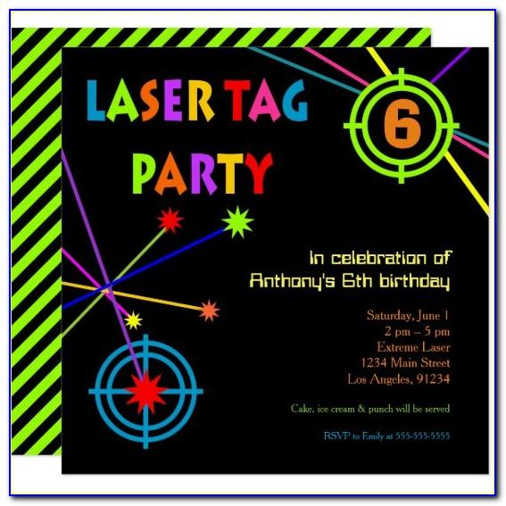Laser Tag Birthday Invitation Templates