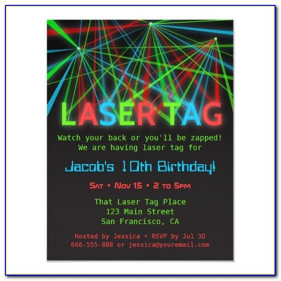 Laser Tag Birthday Invite Template