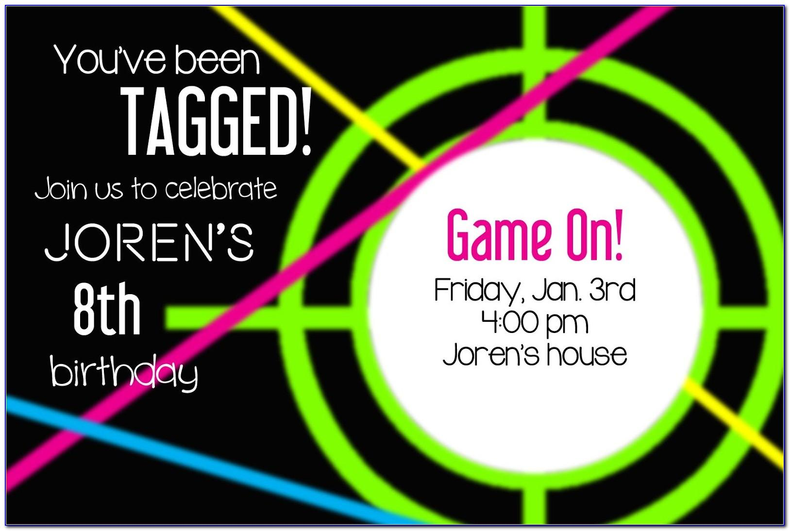 Laser Tag Birthday Party Invite Template