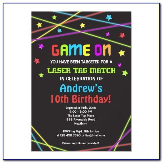 Laser Tag Invitation Template Free