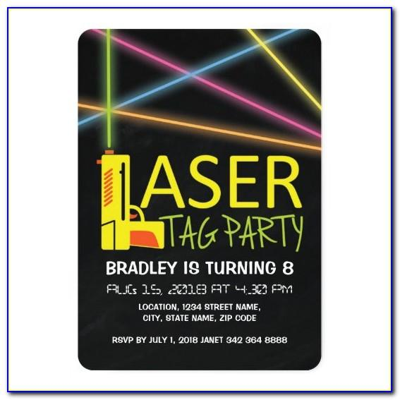 Laser Tag Invitations Printable Free
