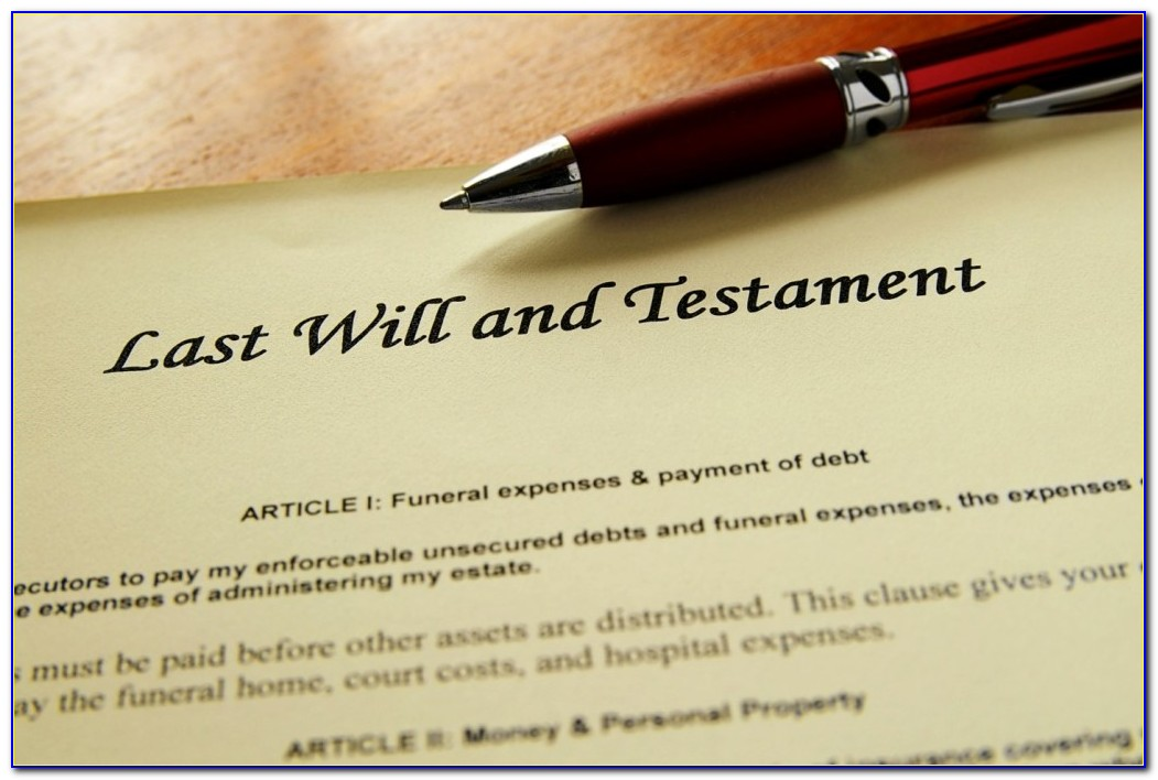 Last Will And Testament Template California