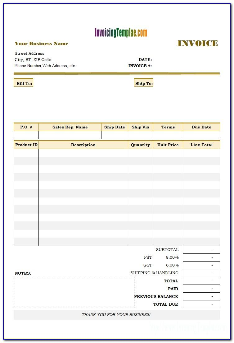 Late Payment Interest Invoice Template