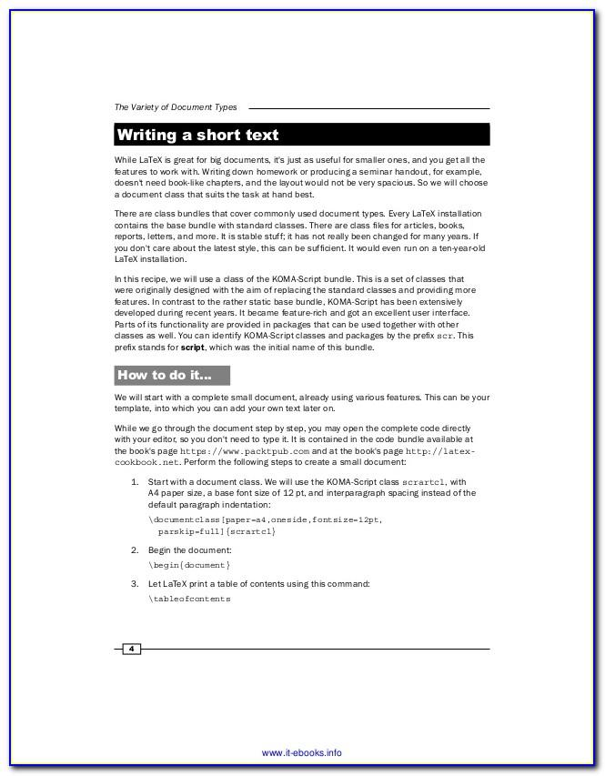 Latex Resume Template Undergraduate