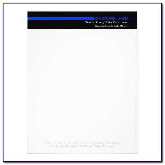 Law Enforcement Letterhead Templates