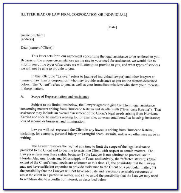 Law Firm Letterhead Samples