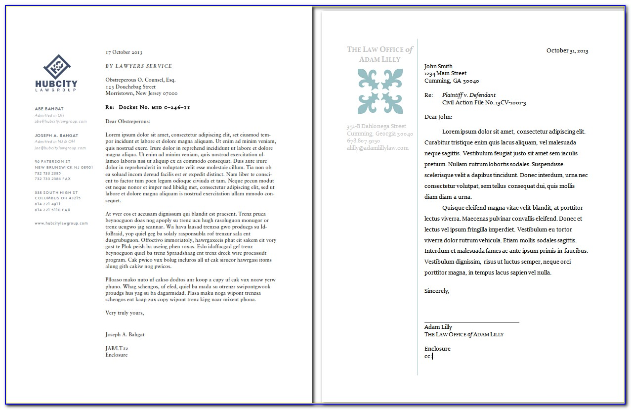 Law Firm Letterhead Template Word Free